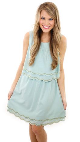 Gabby Dress, Sea Blue