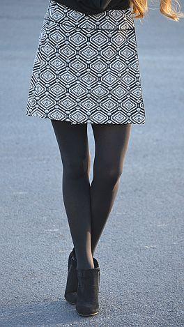 Jacquard Wrap Skirt