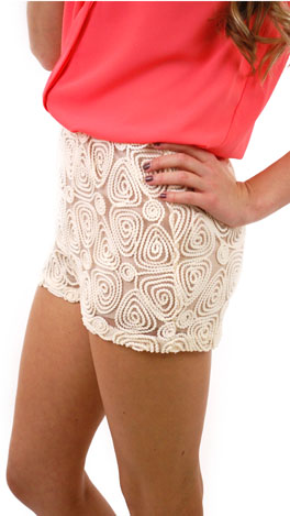 Spiral Crochet Shorts