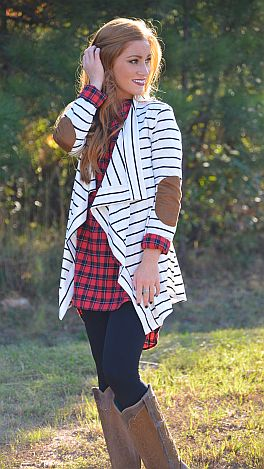 Perfect Patch Cardi, White