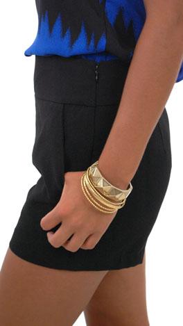 Flat Front Shorts, Black