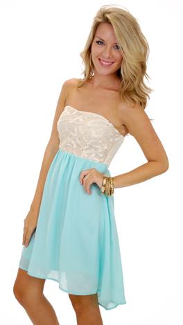 Love Letters Dress, Aqua