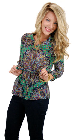 Emerald Isle Blouse