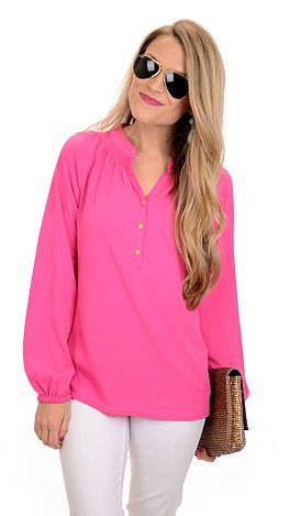 Mary Mac Blouse, Pink