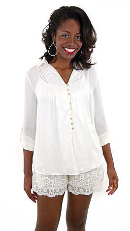 Pretty Please Blouse, Ivory