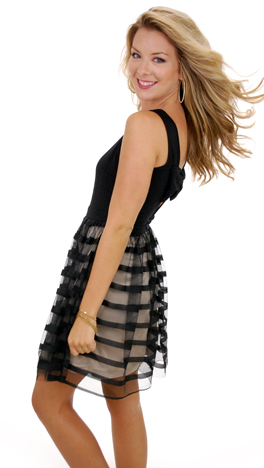 Bow-dacious Dress, Black