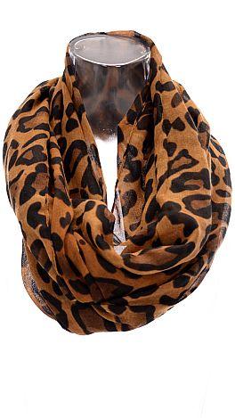 Leopard Loop Scarf