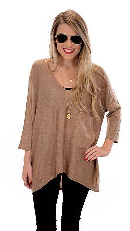 Coal Miner Sweater, Camel