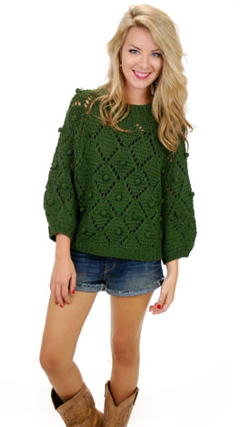 Wolly Dolly Sweater, Green