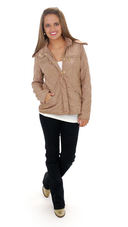 Classic Quilted Jacket, Camel