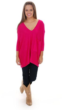 Coal Miner Sweater, Hot Pink
