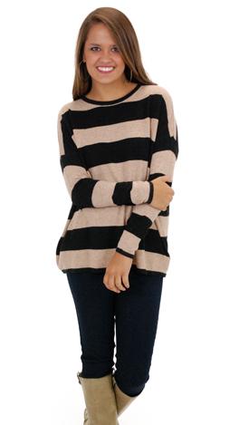 Stripe it Up Sweater, Black