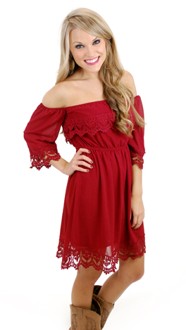 Listen to your Heart Dress, Cranberry