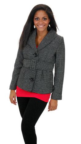 B&W Belted Coat