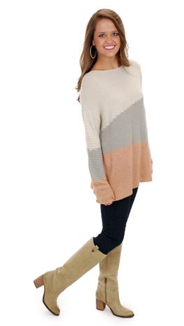 Trifecta Sweater, Peach