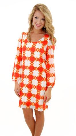 Home Plate Dress, Orange