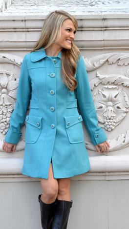 Dusty Turq Classic Coat