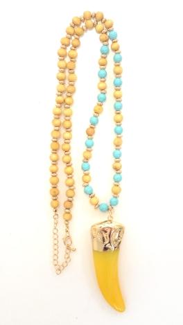 Sun Horn Bead Necklace