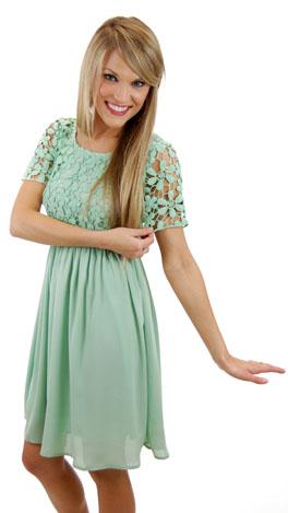 Hopelessly Devoted Dress, Mint