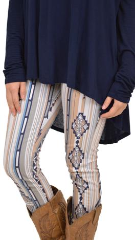 Fashion Packed Pants, Blue Print