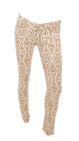 Fashion Packed Pants, Tan Print