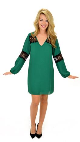Arm Candy Shift Dress, Green