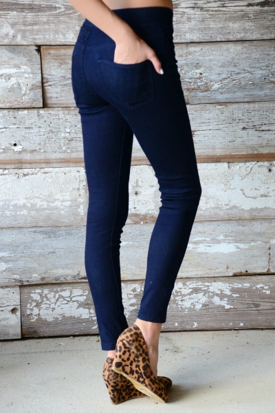Elyse Denim Leggings, Blue