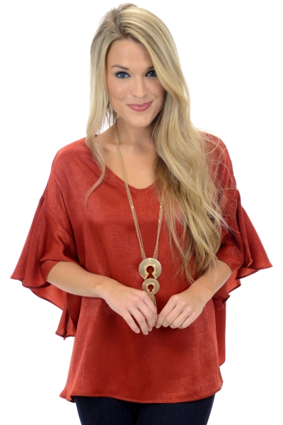 Spicy Sleeves Top