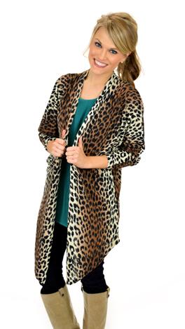 Long Leopard Cardi
