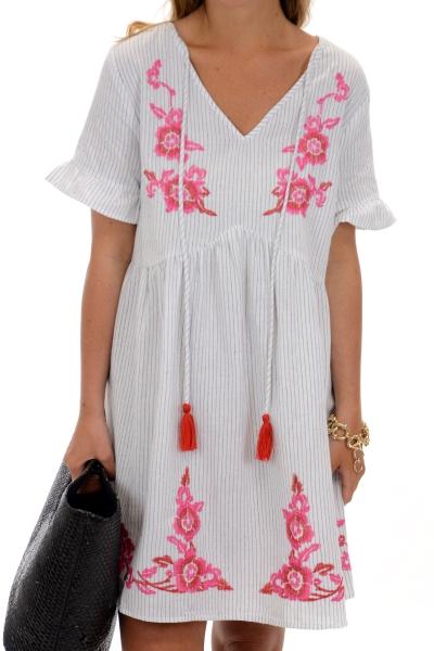 Bohemian Baby Dress, White