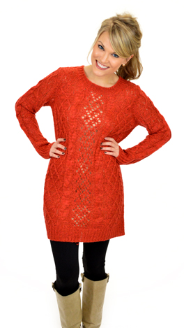 Duty Calls Sweater, Orange