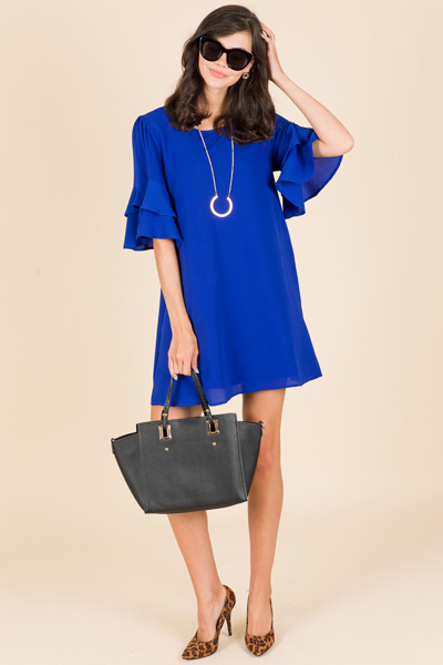 Cazzie Dress, Blue