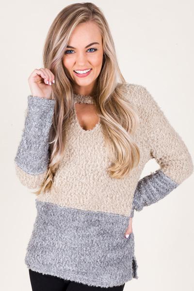 Boucle Choker Sweater