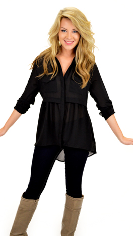 Oh Baby Blouse, Black