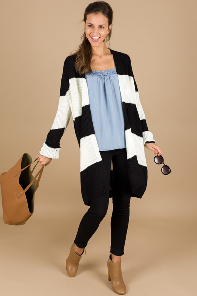 Chelsey Striped Cardigan