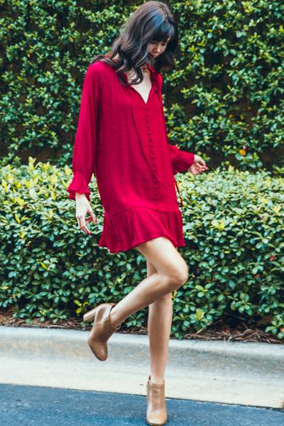 Rustic Romance Dress, Red