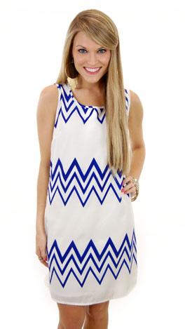 Space Mountain Dress, Blue