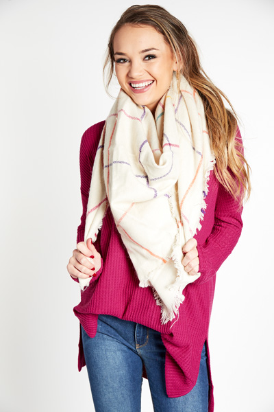 Party in Plaid Scarf