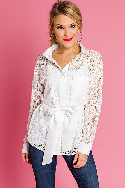 Lacy Lover Button Up