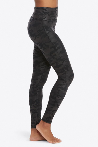 Spanx Leather Leggings, Camo
