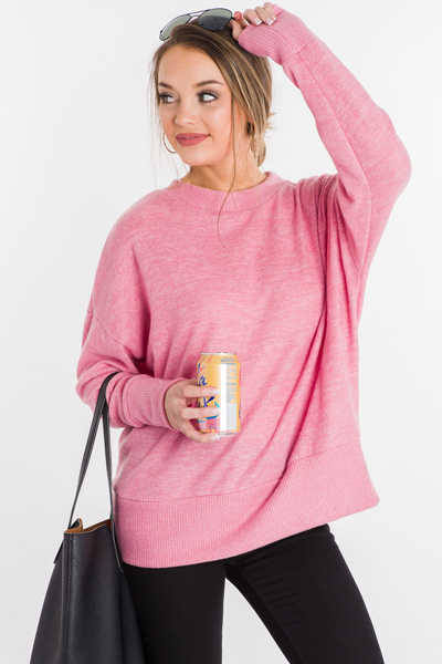 Plush Hour Pullover, Pink