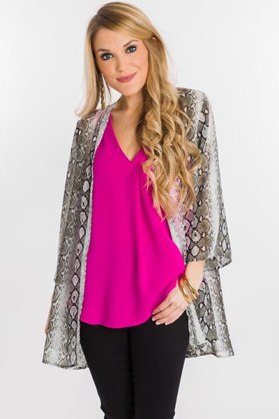 Slithering Kimono, Grey