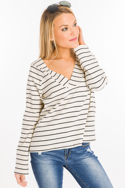 Coffee Break Striped Top