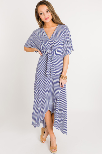 Tie Your Best Maxi, Blue Stripe