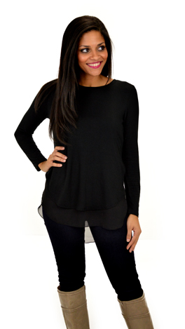 Double Your Fun Top, Black
