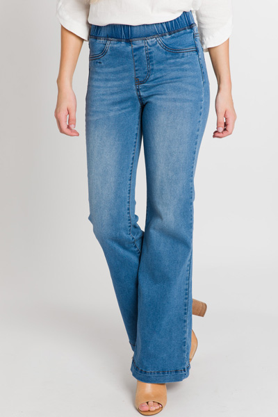 Pull on Bell Bottoms, Denim