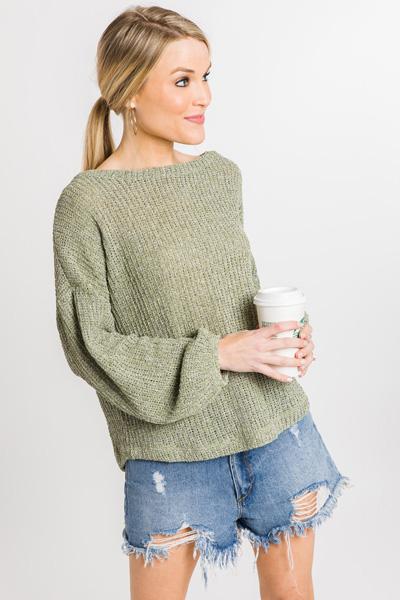 Allie Sweater, Olive