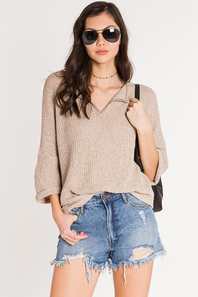 Piper Knit Top, Oatmeal
