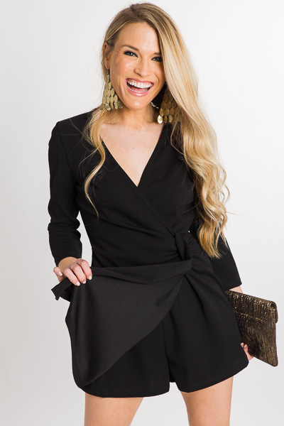 Black Magic Wrap Romper