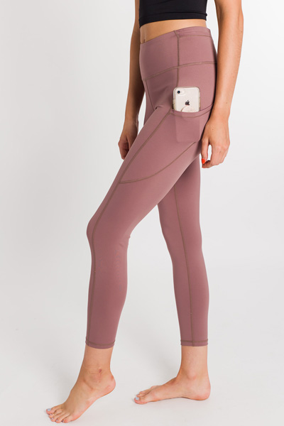 Mauve Around Workout Leggings